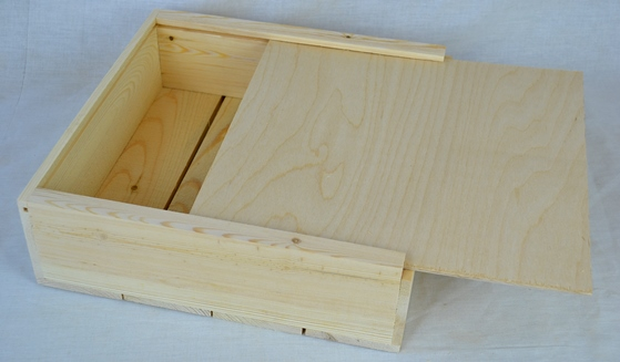 Sliding Wood Box : Wooden box with sliding lid free shipping for this